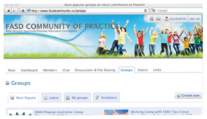 FASD community screenshot