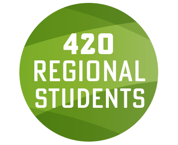 420 regional students