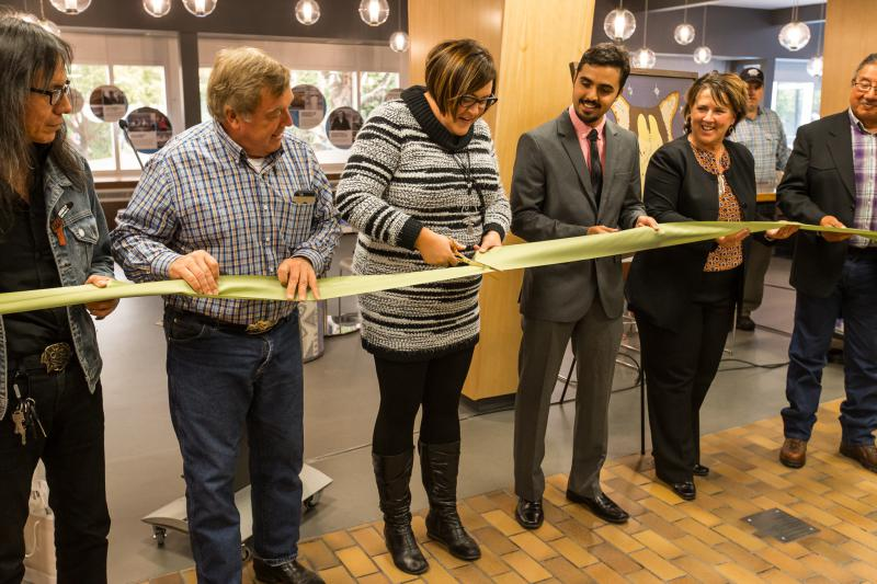 Founder's Square ribbon cutting