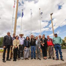 Blackfoot Confedeacy flag raising ceremony