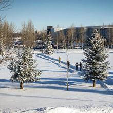 Lethbridge College in winter