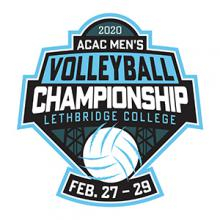 The 2020 ACAC Men's Volleyball Championships tournament logo