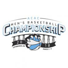 The 2018 Cora Breakfast and Lunch ACAC Men's Basketball Championship logo