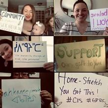 Staff from Grande Prairie Regional College send messages of support to students.
