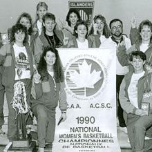 The CCAA champion 1989-90 Kodiaks women's soccer team