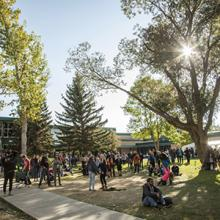Community members enjoy Coulee Fest at Lethbridge College.