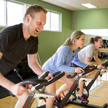 Lethbridge College staff members take part in a Be Fit for Life class.