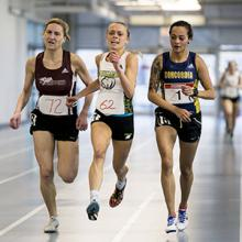 Kodiaks runner Emily Spencer competes in ACAC indoor track competition.