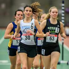 Kodiaks runner Vildana Rekic leads the pack at an ACAC Grand Prix event