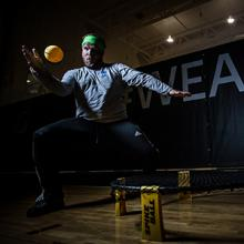 Kodiaks Spikeball recruit Tanner Marcer in action