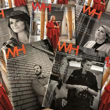 The covers of Lethbridge College's award-winning Wider Horizons magazine.