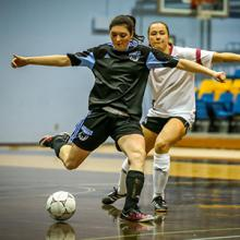 Kodiaks futsal player Christine Moser in ACAC futsal action.