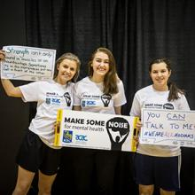 Kodiaks student-athletes show their support for Make Some Noise for Mental Health.