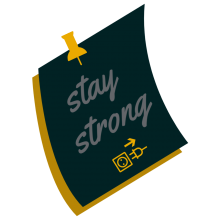 Stay strong note