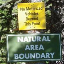 no motorized vehicles sign